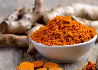 Dehydrated turmeric dices